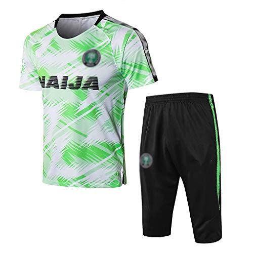 TD Fußball Kleidung Verein lose beiläufige Männer Home Sport Anzug Trainingsanzug Jersey-Oberteile und Hosen BX0312 (Size : L)