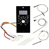 WADEO Replacement Parts for Pit Boss Pellet Grills Digital Temperature Control Panel Kit, Thermostat Controller Board, Temperature Probe, Ignitor, Meat Probe, Fuse and Fixing Band