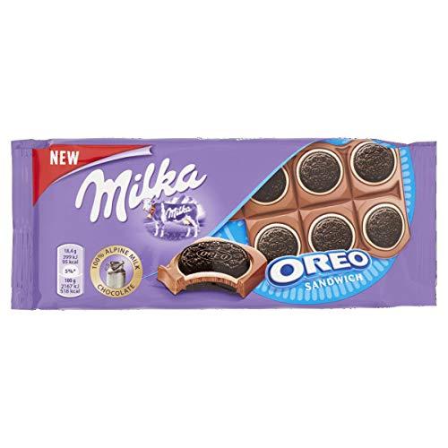 Milka Chocolate con Leche de los Alpes y Galleta Oreo - Tableta de 92 g