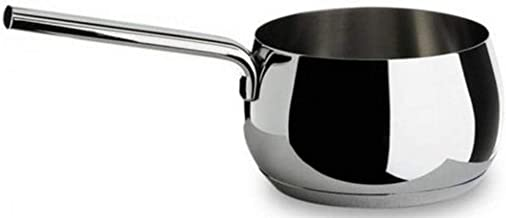 "Alessi,""MAMI"", Long handled saucepan in 18/10 stainless steel mirror polished,1 qt 23 oz"
