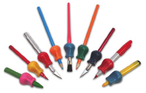Pencil Grip Handwriting Training Grippers (12-Pack), Assorted Colors