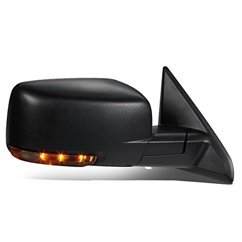 DNA Motoring TWM-037-OE-T888-BK-R Right/Passenger Side Heated Defroster Mirror W/LED Signal [For 09-16 Dodge Ram]