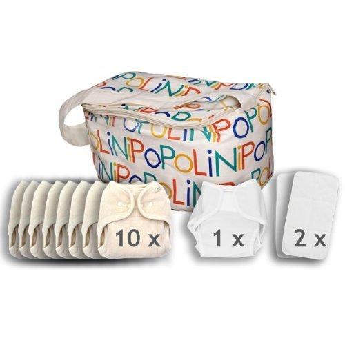 Popolini One Size Soft Set kba Komplettset Stoffwindeln 3-15kg NEU & Original