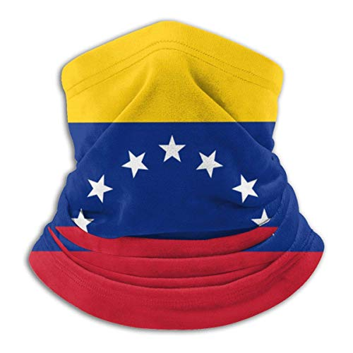 fenrris65 Máscara facial con bandera de Venezuela, bufanda, calentador de cuello, pasamontañas, diadema para polvo, deportes al aire libre, sol