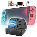 Switch Dock for Nintendo, TV Switch Docking Station Portable Switch Charging Dock for Nintendo Switch with 4K HDMI USB 3.0 Port and Cooling Fan 2021 Upgraded Version (Black)