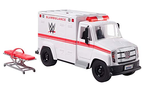 WWE Wrekkin' Slambulance Vehicle with Rolling Wheels & 8+ Wrekkin' Parts; Ages 6 Years Old & Up