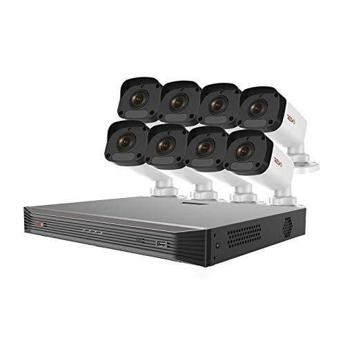 REVO America Ultra 16 Ch. 2TB HDD IP NVR Video Surveillance System, 8 x 4MP IP Bullet Cameras - Remote Access via Smart Phone, Tablet, PC & MAC, Black (nvr) & Cameras (White) (RU162ABNDL-1)