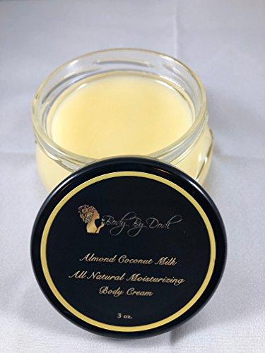3 Oz. All Natural Almond Coconut Scented Body Cream