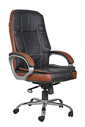 Casa Copenhagen Um Collection- High Back Leatherette Executive Office/Ergonomic Chair/Director Chair - Black Tan