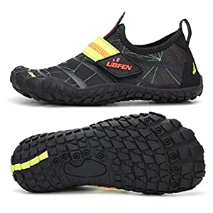 Barefoot Shoes Water Skin Shoes Surf Shoes Socks for Beach//Swim//Surf//Yoga//Pilates Choose Large one Size DoGeek Water Shoes Slip-On Aqua Shoes for Adults and Kids Sports Shoes