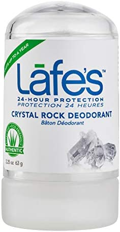Lafe s Natural Body Care Unscented Crystal Rock Deodorant 24 Hour Protection All Natural 2 25oz product image