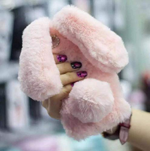 iPhone 6/6s Fur Case for Girls,Jesiya Luxury Cute Toy Warm Handmade Rabbit Bunny Furry Fuzzy Soft Rabbit Fur Hair Plush Case Cover for iPhone 6/6s 4.7'