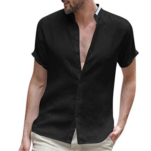 Geilisungren Polos Shirt Casual Verano Camisetas de Manga Cortas para Hombre Cuello en V Fitness Tops Color sólido Camisetas Deportista Gimnasio Músculo Formación Tank Top Talla Grande Pullover