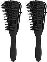 Detangling Brush, Beomeen 2pcs Hair Detangler Brushes for Natural Curly Dry Wet Hair, Pain Free, Easy to Clean, Black