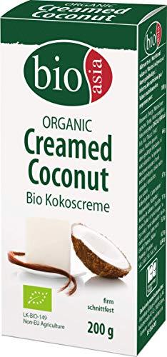 BIOASIA Bio Kokosnusscreme im Block, schnittfest, aus 100% Kokosnuss zum Verfeinern von Gerichten, vegan, halal, glutenfrei (10 x 200 g)