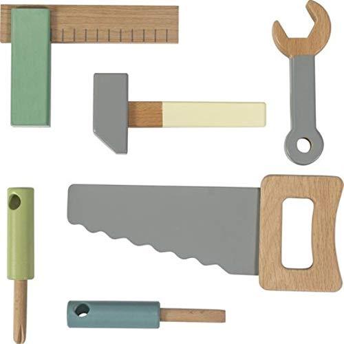 Sebra houten gereedschapsset van hout, warm grijs