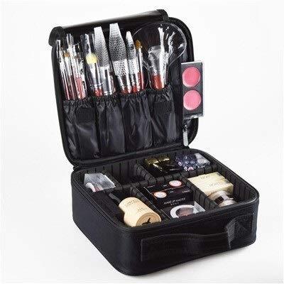 KEHUITONG ZSRXL Borsa Valigie a Due Piani cosmetico Professionale Storage Case Cosmetic (Color : B Black)