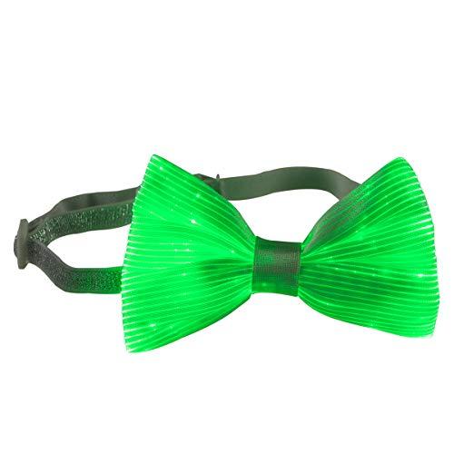 aigo2c accendi Cravatte Farfallino Luminoso, 7 Colori LED Cravatta novità - Ricarica USB Costumi LED