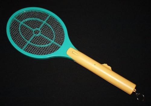 1 Elektrische Fliegenklatsche elektronischer Insektenvernichter Fliegenfänger erzeugt eine elektrische Spannung im Metallgitter
