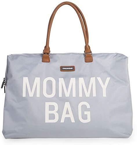 Childhome Mommy Bag CWMBBGR wikkeltas, 55 x 30 x 30 cm, grijs