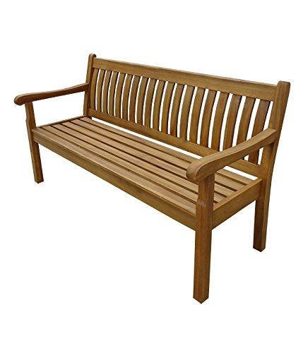 Dehner Gartenbank St. Ives, 3-Sitzer, ca. 160 x 67 x 89 cm, FSC® Akazienholz, geölt, Natur
