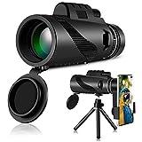 Caza Abilieauty Eventos Deportivos Caza telescopio monocular de Enfoque de 40 x 60 Zoom HD de visi/ón Nocturna para Viajes Senderismo Caza