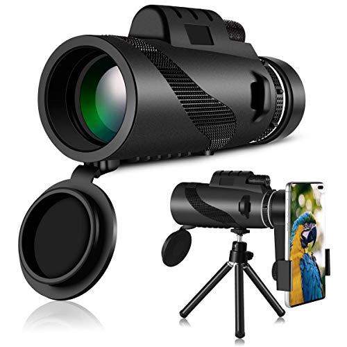 HWeggo Telescopio Monocular, 40 x 60 HD Monocular Impermeable monoculo telescopio portatil para Viajes de Caza