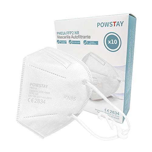 GreenBee-Powstay PM01A Mascarillas autofiltrantes de partículas FFP2 NR, 10 unidades