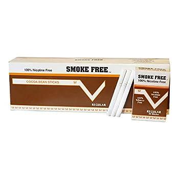 Carton 10 Packs 100% Nicotine Free  Cocoa Bean Sticks  Regular Flavor