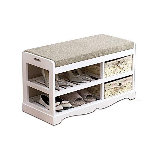 HLL Banco de zapatos de madera maciza, asiento de puerta, taburete, almacenamiento de zapatos, banco de zapatos moderno simple, banco de jardín, zapatero, banco de sofá,80x36x45.5cm,80x36x45.5cm
