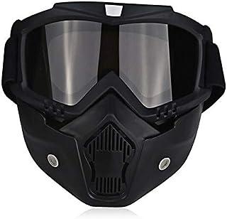 DFGDH Gafas de Moto Universal Vintage Moto Gafas Piloto Aviador Moto Scooter Biker Montar Gafas Casco Gafas Off-Road