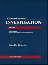 Criminal Process, Part 1: Investigation