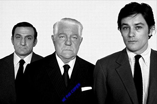 Générique Photo Poster argentique de Lino Ventura, Jean Gabin et Alain Delon dans Le Film Le Clan des Siciliens 1969.30x45cm.12x18