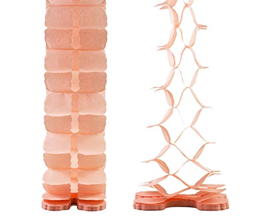 Creativery Papier Girlande 6 Meter (apricot 714) // Papiergirlande Hängedeko Raumdeko Party Geburtstag Raumdekoration Deko