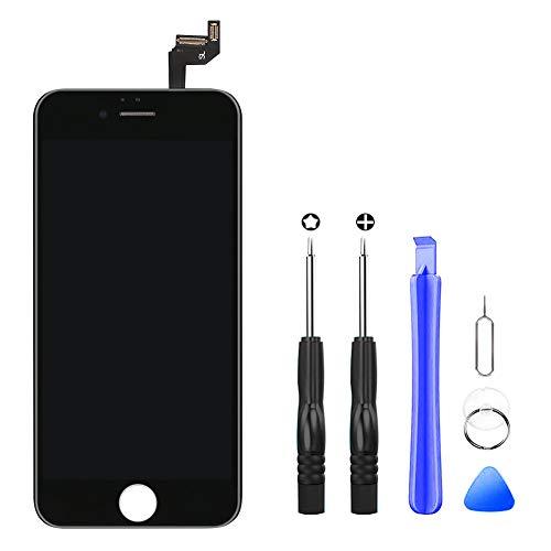 Hoonyer Ecran iPhone 6s Noir LCD Display Vitre Tactile Complet Remplacement d'écran avec Kit de Réparation iPhone 6s (4.7 Pouces)