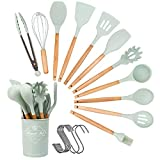 Silicone Kitchen Utensils Set, 12Pcs Cooking Utensils Set with Hook, Bpa-free...