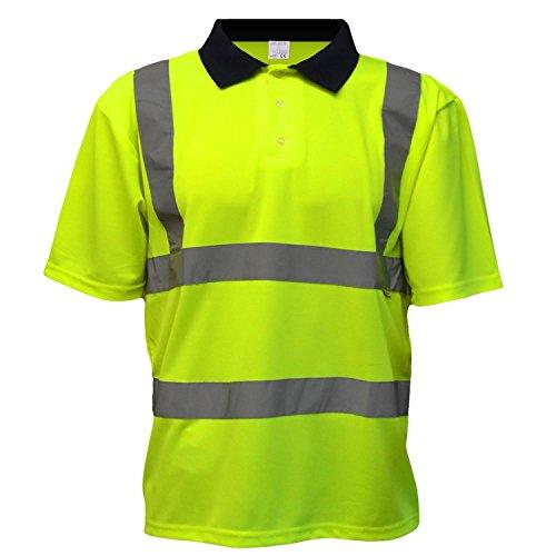 Hi-Viz Hommes EN471 Haute visibilité Haute visibilité Chemise Polo Orange Jaune T Shirt S M L XL XXL 3XL 4XL - Jaune, X-Large