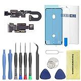 OKBICHI Cámara frontal para iPhone 8 (todos los transportistas) módulo de cámara frontal sensor de proximidad micrófono Flex cable reemplazo - herramientas de reparación con protector de pantalla