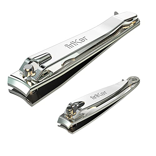 Nail Clipper Set,Premium Stainless Steel Fingernail and Toenail Clipper Cutters, Fingernail Clipper Cutters Sets with Nail File Sharp,Effortless Stainless Steel Nail Clippers for Men & Women