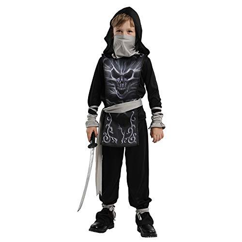 Thermos cup Halloween KostüM Junge Horror Cosplay Mode Leistung Geist Ninja,Masked Ninja XL