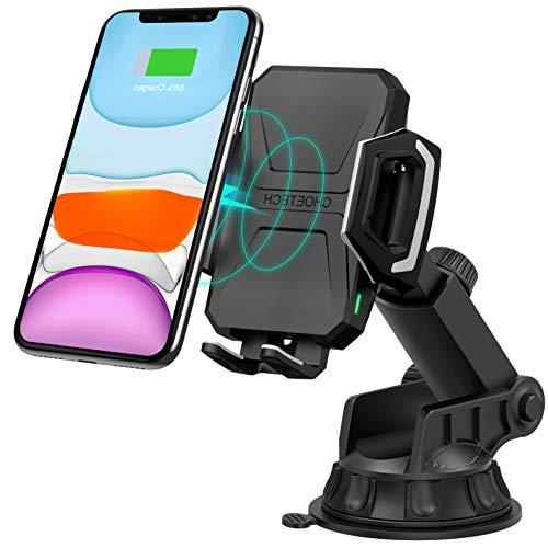 CHOETECH - Caricatore da Auto Wireless Qi, 7,5 W, Compatibile con Apple iPhone XR/XS/XS Max/X/8/8 Plus, 10 W, per Galaxy Note 9/S9/S9+/S8/Note 8, 5 W per Galaxy S10/S10+/S10E