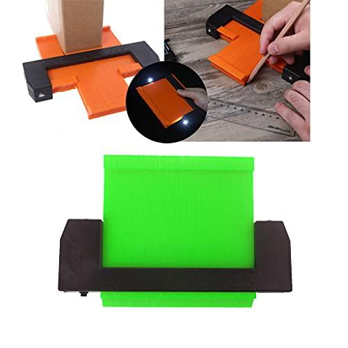LEXIANG Medidor de Contorno más Ancho con Cerradura, medidores de Perfil JSK Medidor de duplicaciones de Contorno de plástico con Cerradura y luz