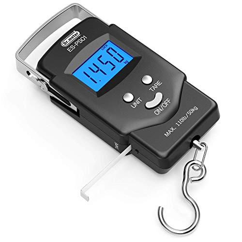 [Backlit LCD Display] Dr.meter PS01 110lb/50kg Electronic Balance Digital Fishing Postal Hanging...