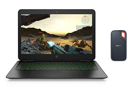HP Pavilion Gaming 9th Gen Intel Core i5 Processor 15.6-inch FHD Gaming Laptop (8GB/512GB SSD/Windows 10/NVIDIA GTX 1650 4GB Graphics)-SanDisk 500GB SSD USB-C, USB 3.1, for PC & Mac & IP55 Rated