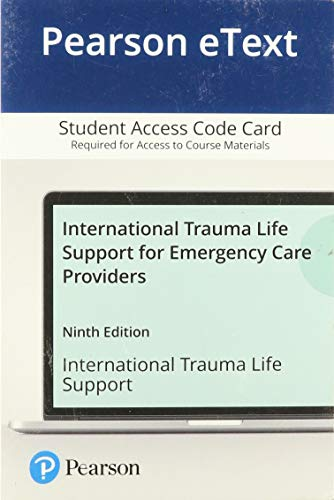 Pearson eText -- for International Trauma Life Support for Emergency Care Providers -- Access Code Card (9th Edition)の詳細を見る