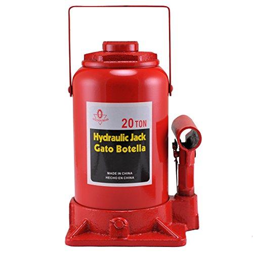 Hiltex 20206 High Lift, Heavy Duty Hydraulic Bottle Jack, 20 Ton