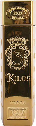 3 Kilos Gold Vodka 999.9 Ultra Premium Vodka 40% Vol - 700 ml