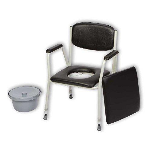 Behrend inodoro silla TS 100Noche silla inodoro silla, altura regulable, cubo, Cubierta