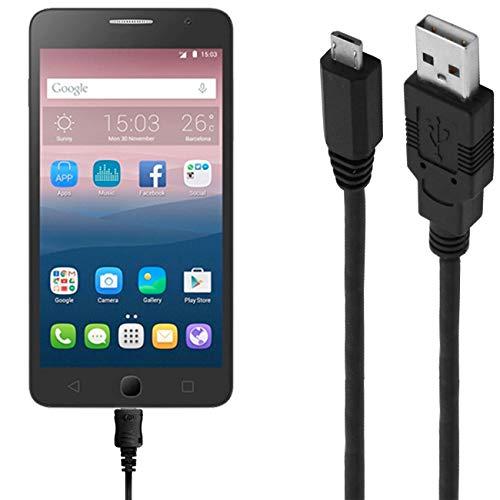 ASSMANN Ladekabel/Datenkabel kompatibel für Alcatel OneTouch Pop Star 3G - schwarz - 1m