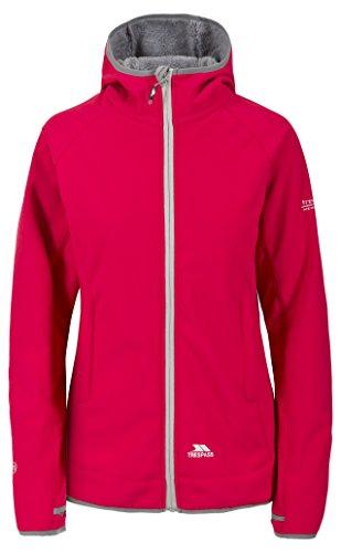 Trespass Imani, Raspberry, XXS, Wasserdichte Softshelljacke mit Daumenschlaufen für Damen, XX-Small / 2XS / 2X-Small, Rosa / Pink